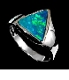 designer-opal-jewelry-boulder opal triangular ring