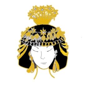 jewelers and gold jewelry jewellery - Headdress worn by the princess of Ur