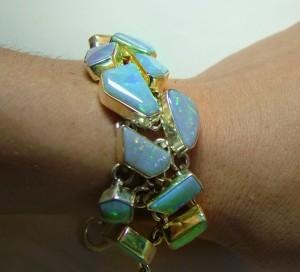 opal-bracelets-in-the-fashion-world-solid free form crystal opal bracelet