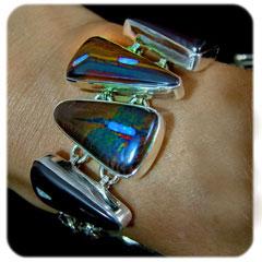 Opal Jewelry bracelet featuring boulder opal inlays