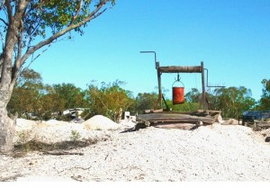 opal mines of Australia - opal Windlass at Lightning Ridge