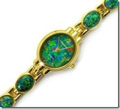 opal-watches-mosaic face opal bracelet watch