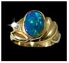 opals-black opal ring