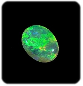 precious-opal-gemstones-for-sale-green crystal oval opal