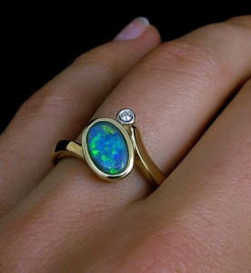 the-jewelry-australia-manufacturers-black opal ring with diamond