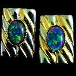 opal cuff links