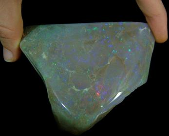Dark Opal from Coober Pedy opal fields