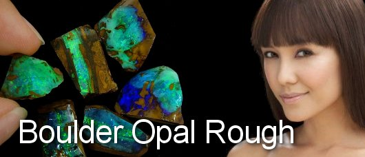 boulder opal rough and rubs from Queensland Opal fields