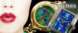 Opal faced Jewelry watches