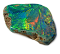 Dark Opal Lightning Ridge-Fern pattern