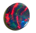 Black Opal Lightning Ridge - Cartwheel banded pattern