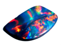 Black Opal Lightning Ridge - Harlequin pattern